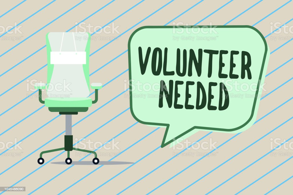 Handwriting Text Writing Volunteer Needed Concept Meaning Looking
