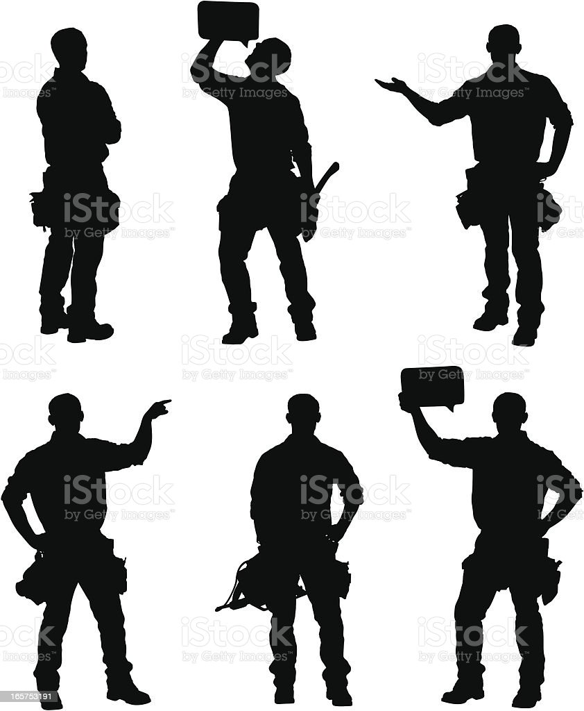 Handy man silhouettes royalty-free handy man silhouettes stock vector art & more images of adult
