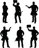 Handy man silhouettes