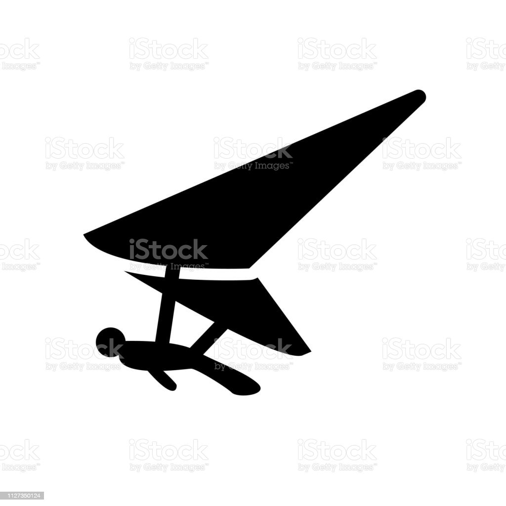 Hang Glider Icon Trendy Hang Glider Logo Concept On White