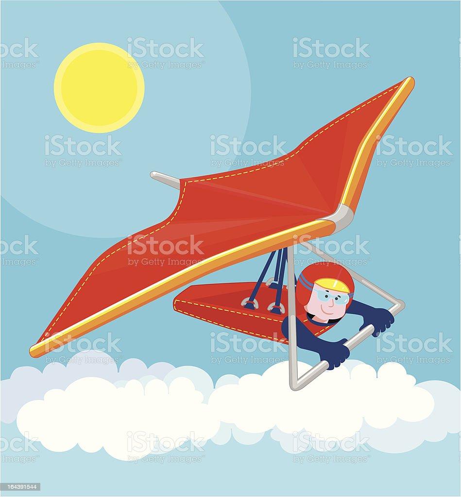 Hang Glider royalty-free stock vector art