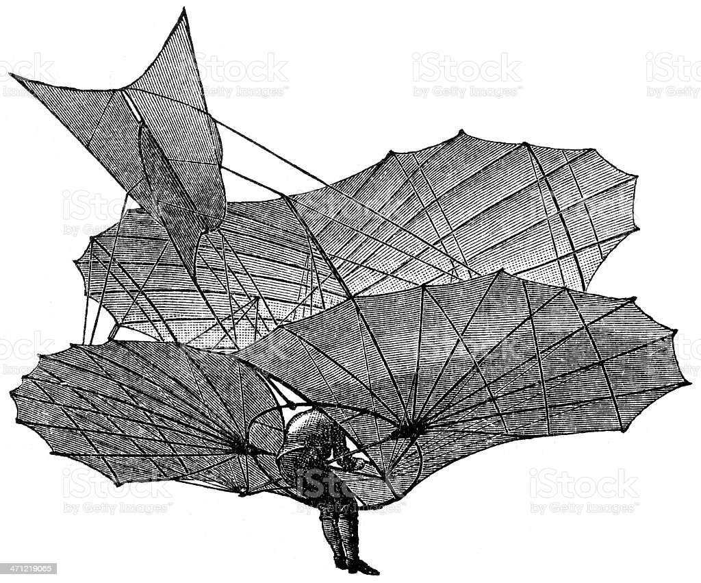 hang-glider royalty-free stock vector art
