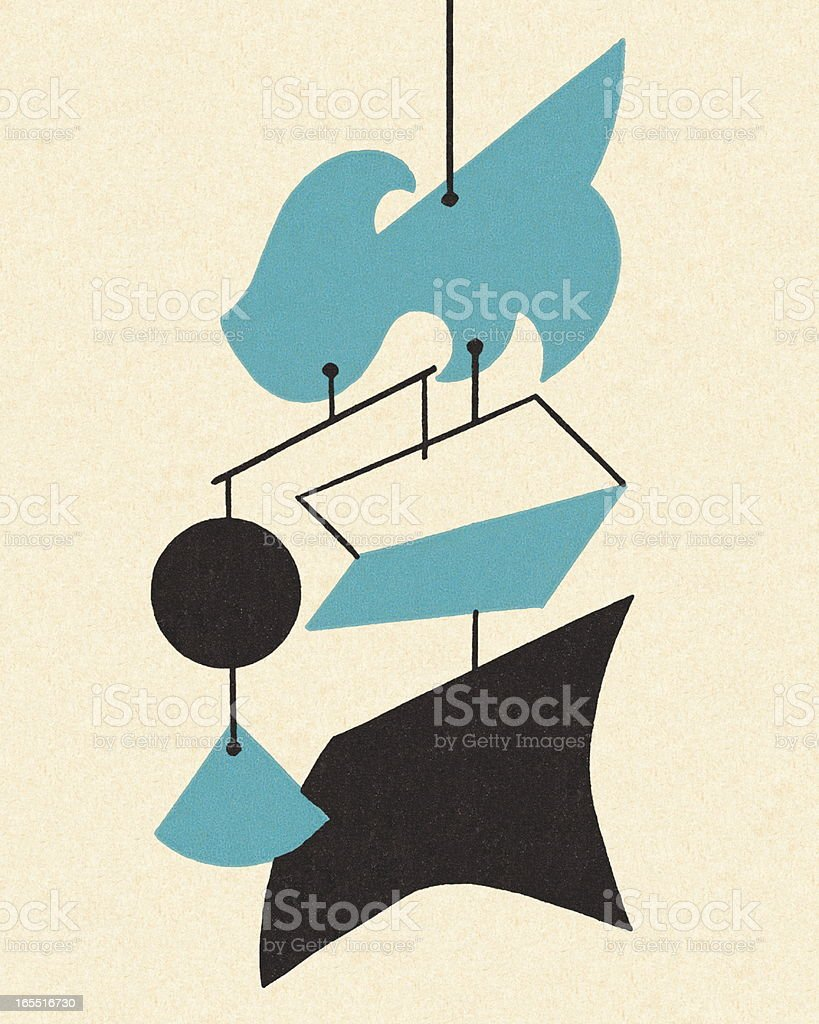 Hanging Mobile royalty-free stock vector art