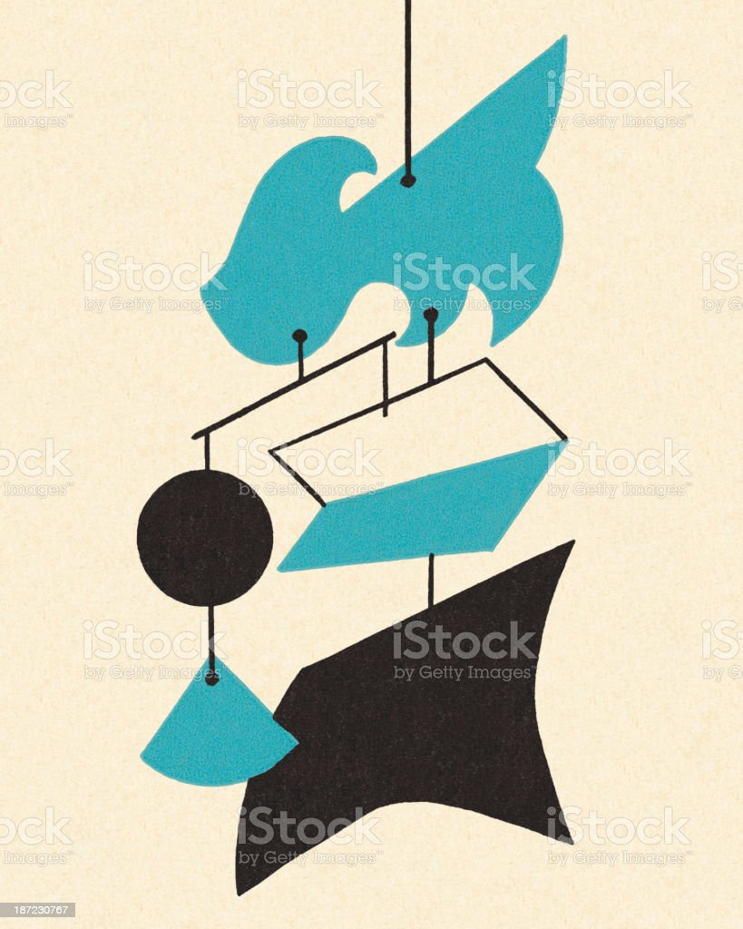 Hanging Mobile vector art illustration