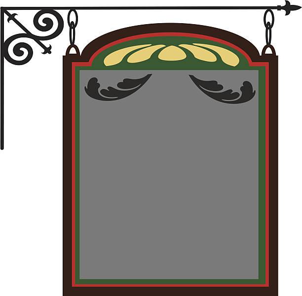 bildbanksillustrationer, clip art samt tecknat material och ikoner med hanging pub sign - pub