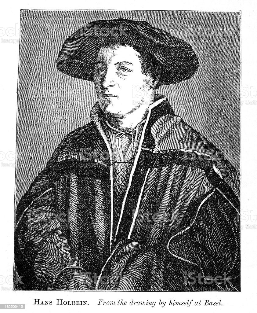 Hans Holbein Self Portrait royalty-free hans holbein self portrait stock vector art & more images of 16th century