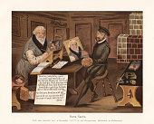 istock Hans Sachs painted (1576) by Andreas Herneisen, chromolithograph, published 1897 1202742670