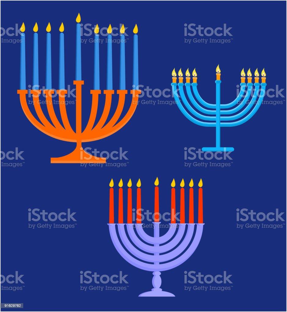Hanukah's elements royalty-free stock vector art