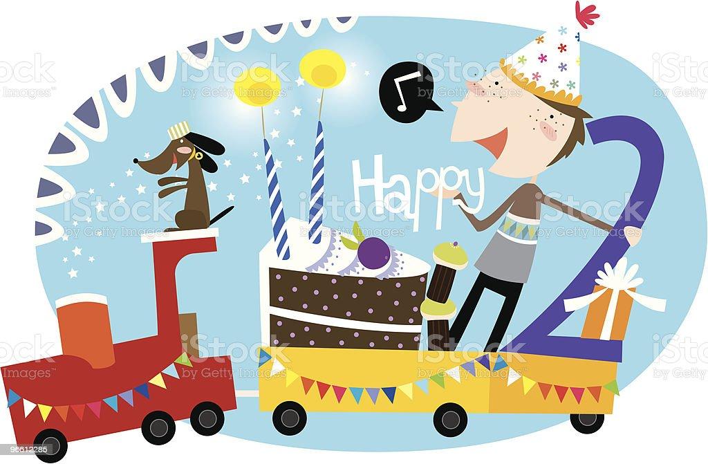 Feliz aniversário, 2nd rapaz! - Royalty-free 2-3 Anos arte vetorial
