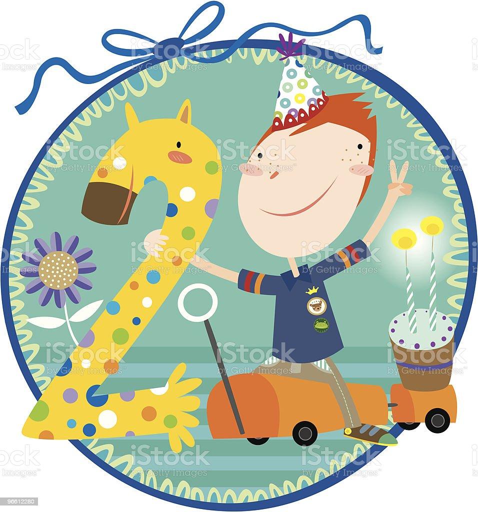 happy 2th birthday! - Royalty-free 2-3 Years stock vector
