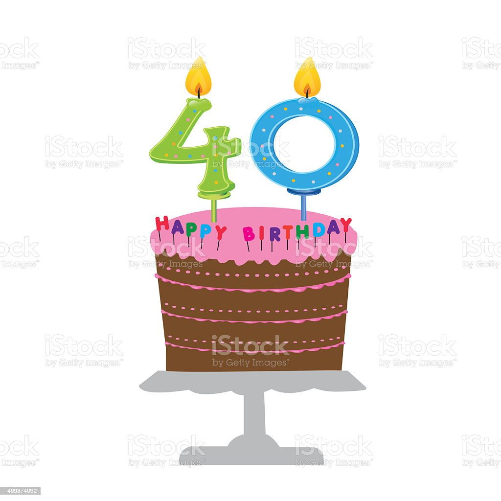 Admirable Happy 40Th Birthday Stock Illustration Download Image Now Istock Funny Birthday Cards Online Inifodamsfinfo