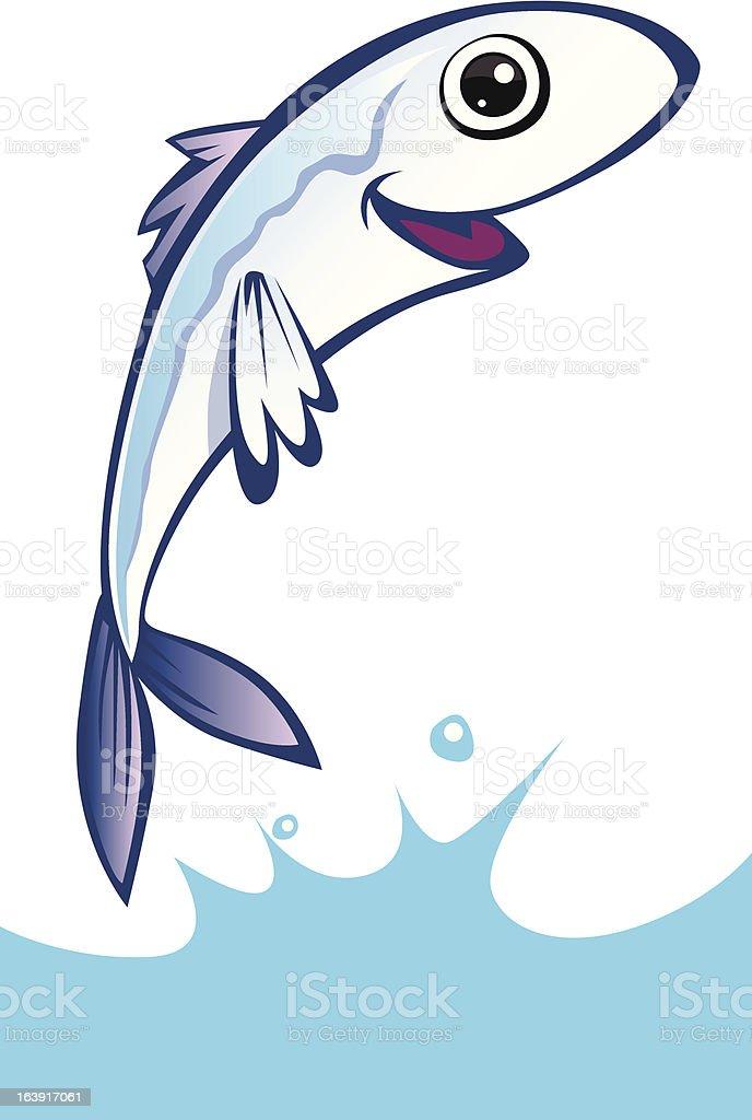 Feliz de anchoa - ilustración de arte vectorial
