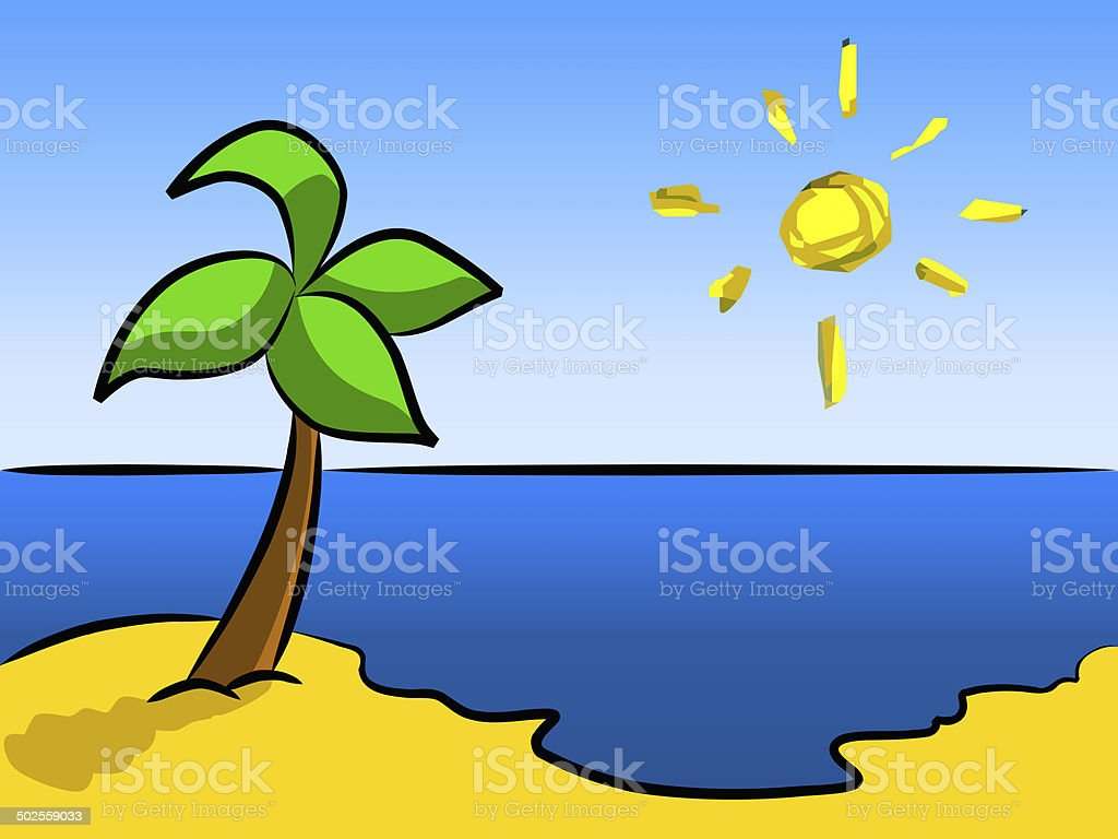 happy beach royalty-free stock vector art