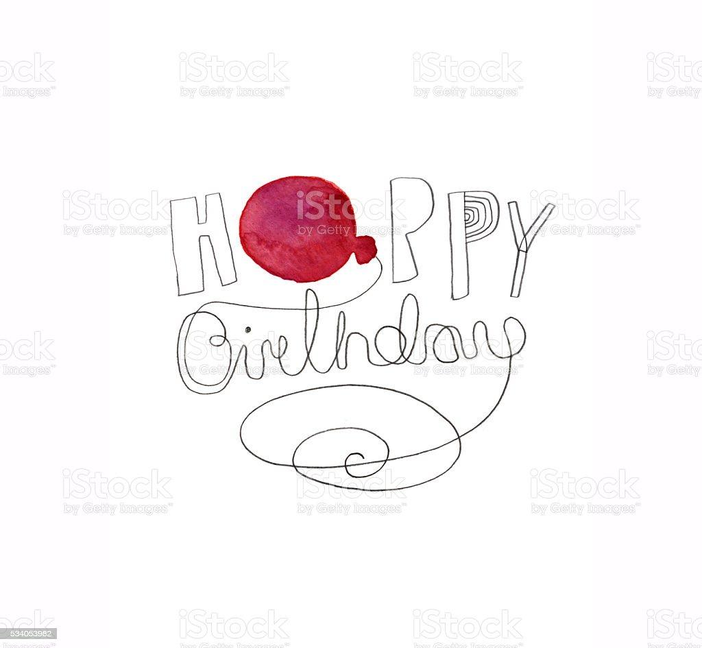 Glucklich Geburtstag Design Mit Ballon Stock Vektor Art Und Mehr