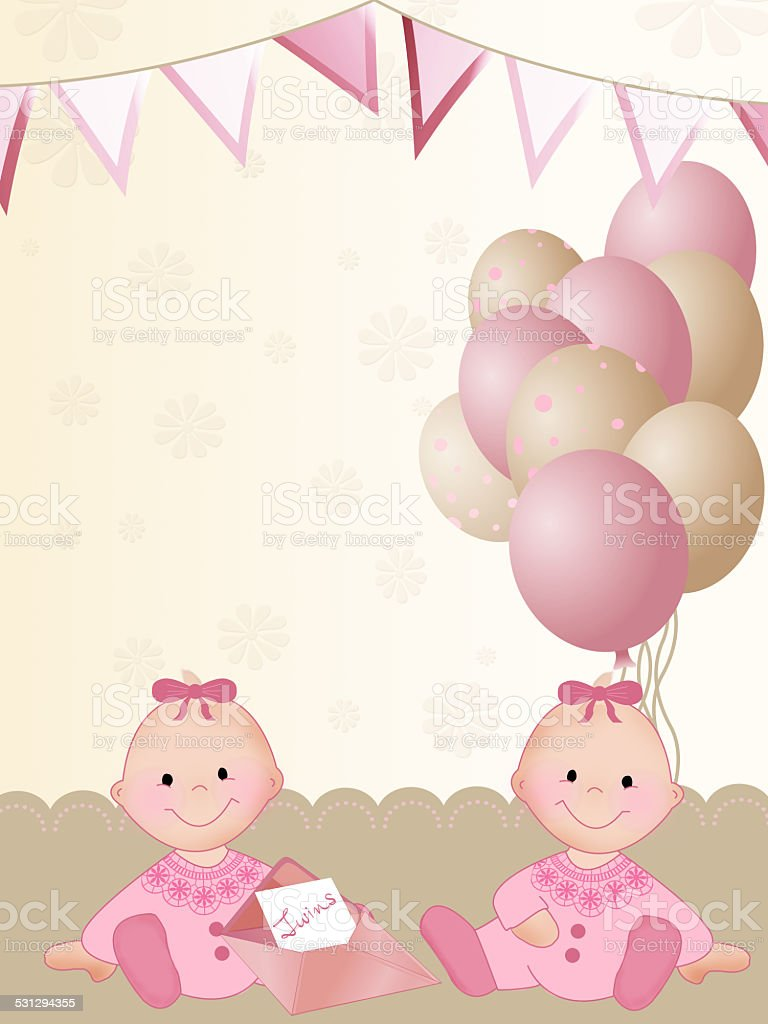 Happy birthday greeting card for twins stock vector art more happy birthday greeting card for twins royalty free happy birthday greeting card for twins stock kristyandbryce Gallery