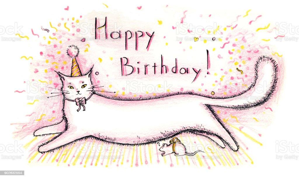 Image result for feliz cumpleanos cat pink