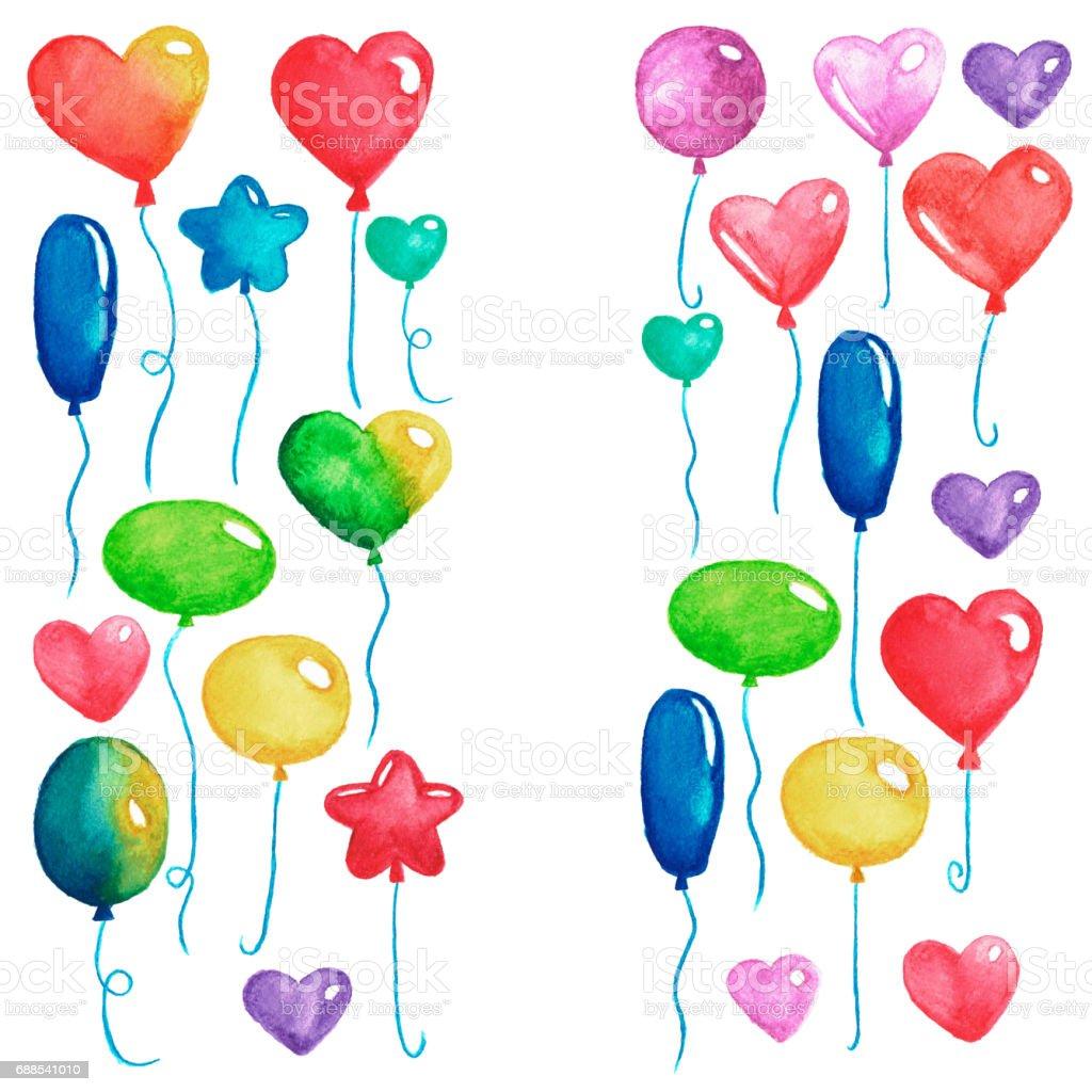 Alles Gute Zum Geburtstag Party Luftballons Bunte Luft Ballons Für ...