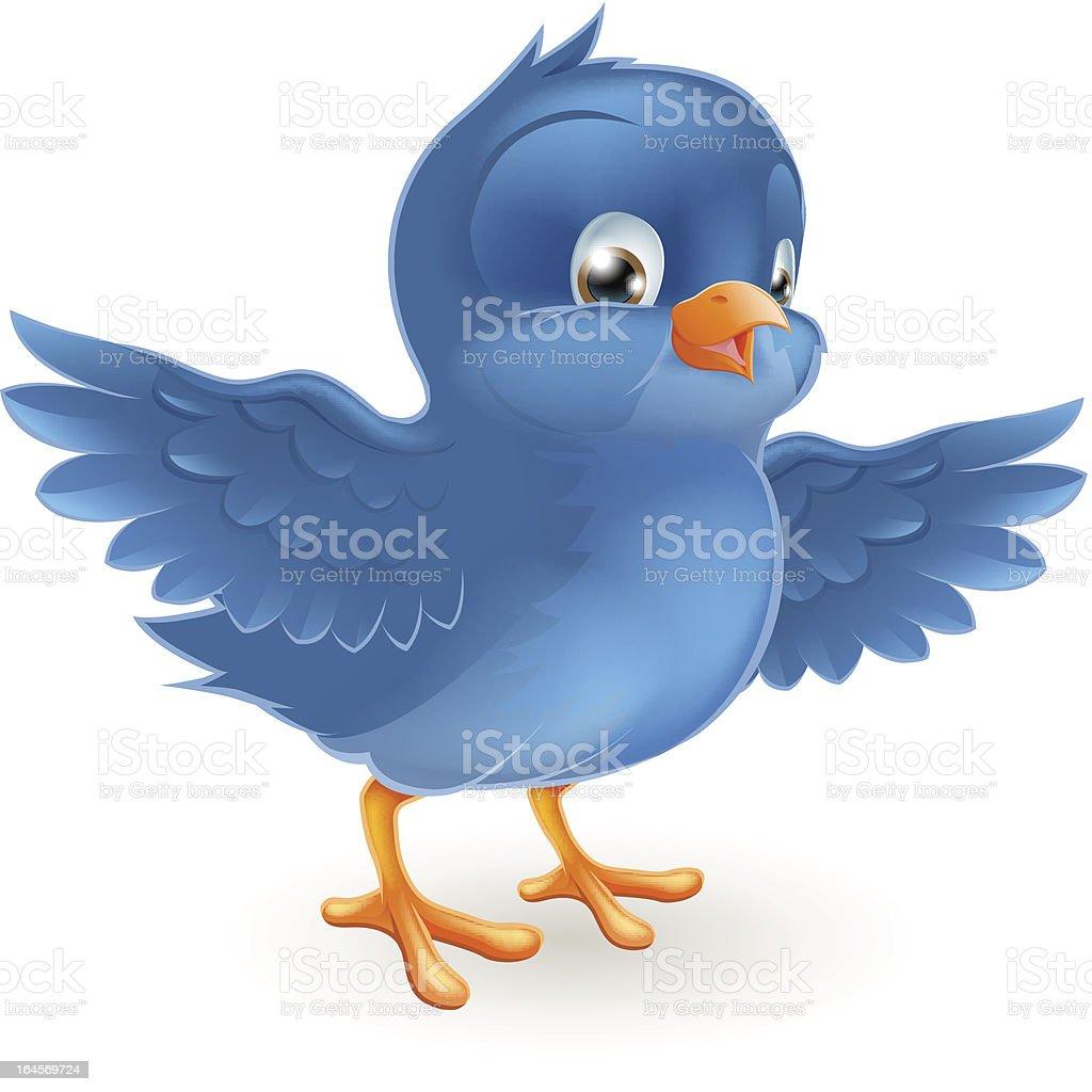 Happy bluebird vector art illustration