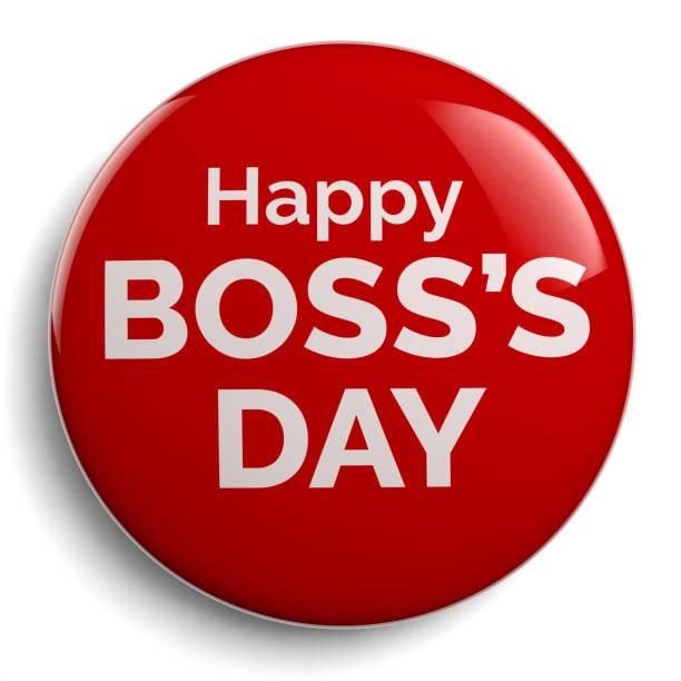 Happy Boss Day Greeting Symbol Boss Day Badge with Happy Boss's Day Message happy boss stock illustrations
