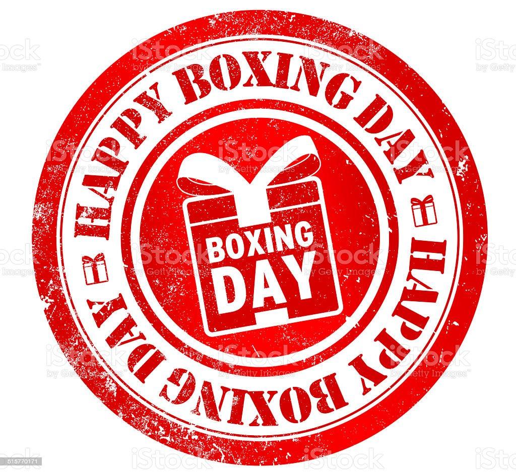 Feliz de boxeo día de la firma - ilustración de arte vectorial