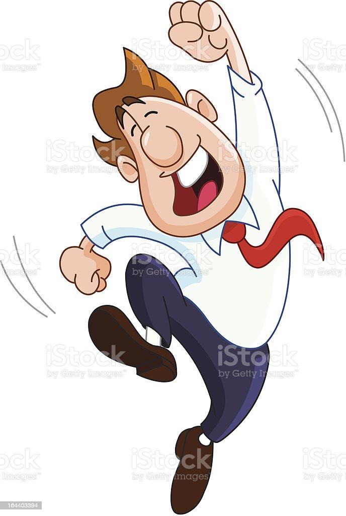 Happy businessman vector art illustration