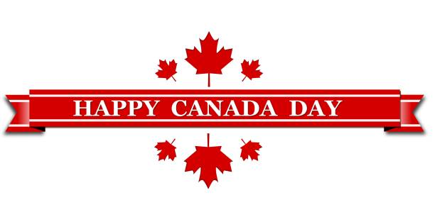 happy canada day poster. 1st july. - canada day stock illustrations