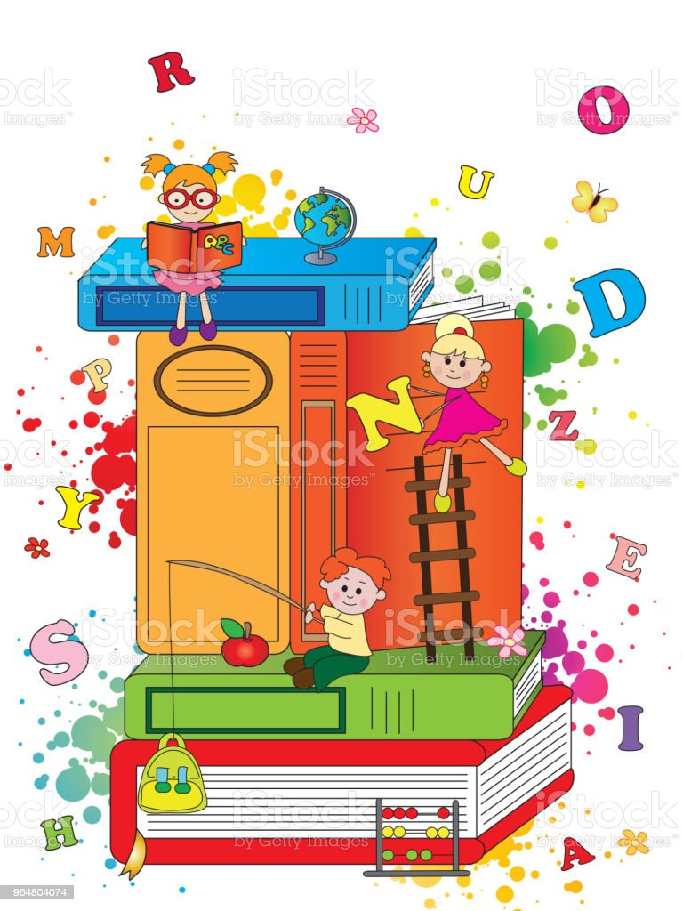 happy children with books royalty-free happy children with books stock vector art & more images of ancient