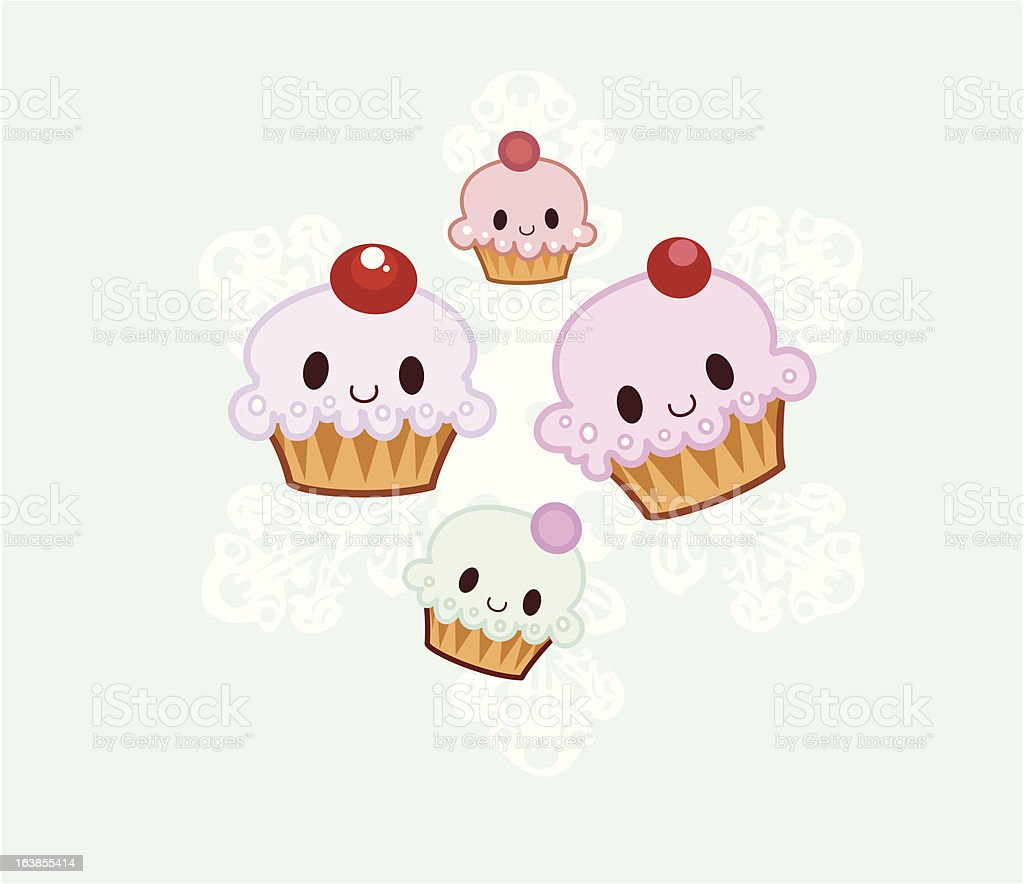 Happy Cupcakes royalty-free happy cupcakes stock vector art & more images of cartoon
