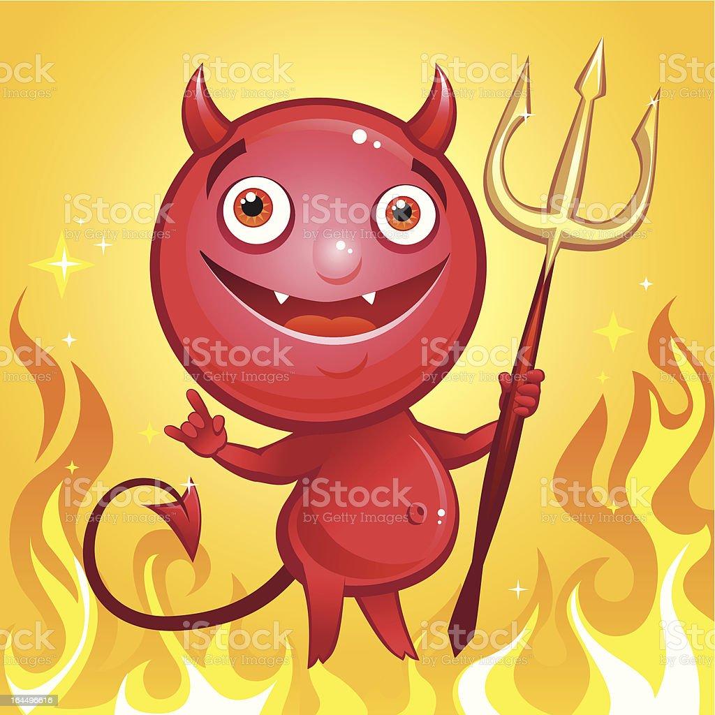 happy devil royalty-free stock vector art