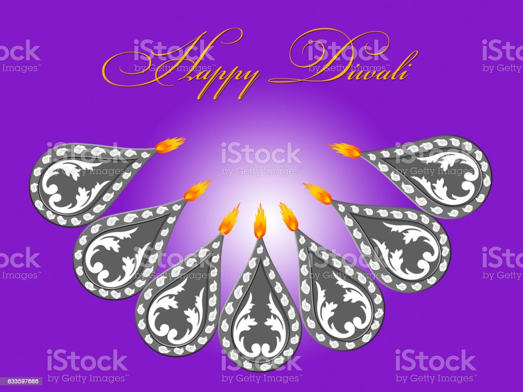 Happy diwali greetings illustration with a lighted diya stock vector happy diwali greetings illustration with a lighted diya royalty free happy diwali greetings illustration with m4hsunfo