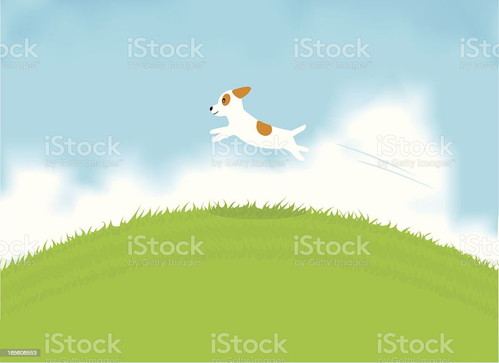 Happy Dog vector art illustration