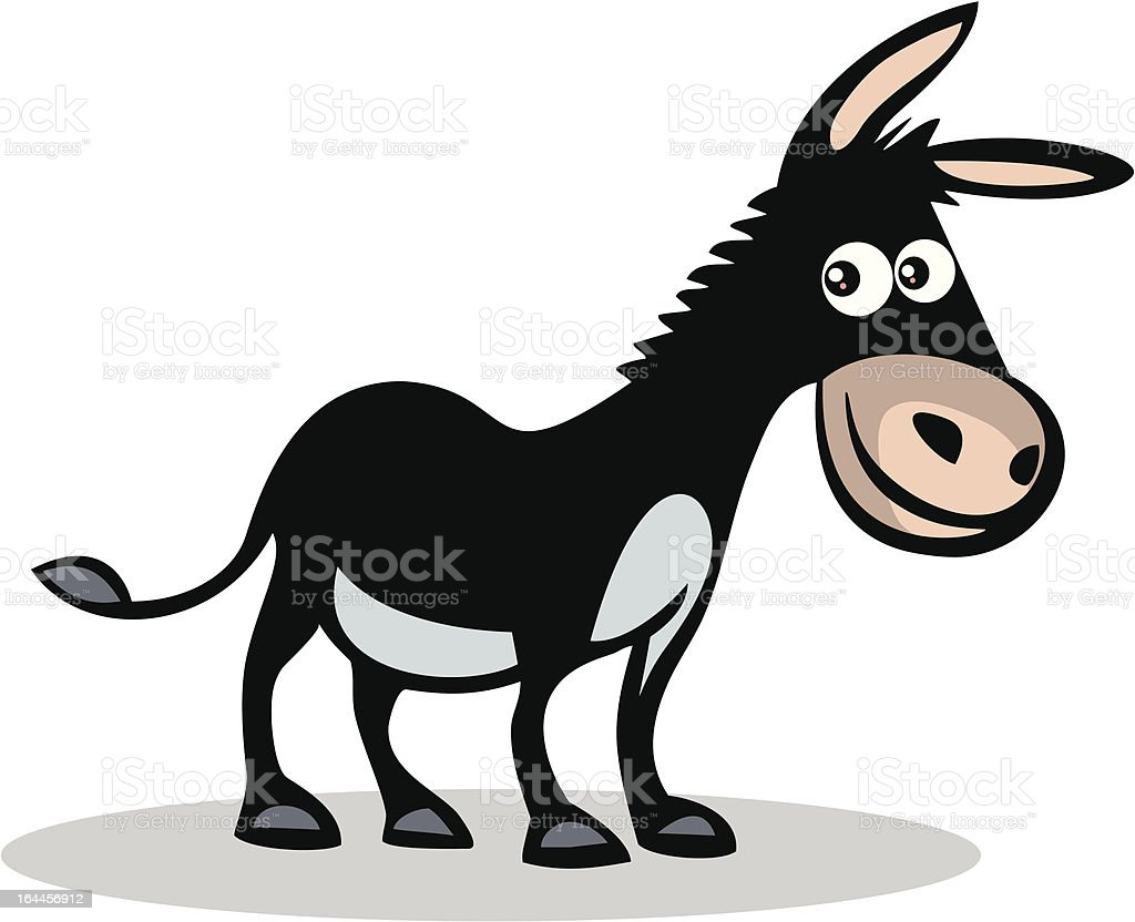 Happy donkey vector art illustration