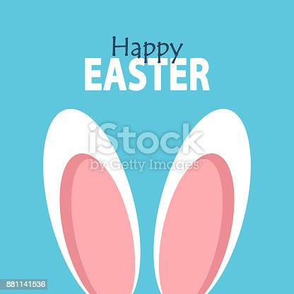 istock Happy Easter. Easter card. 881141536
