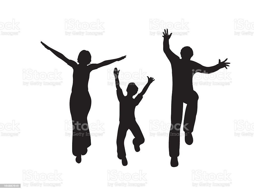 happy family vector vector art illustration