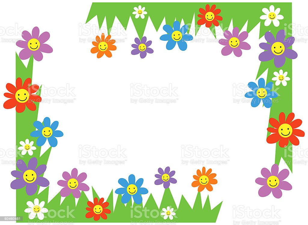 happy flowers corners royalty-free happy flowers corners stock vector art & more images of angle