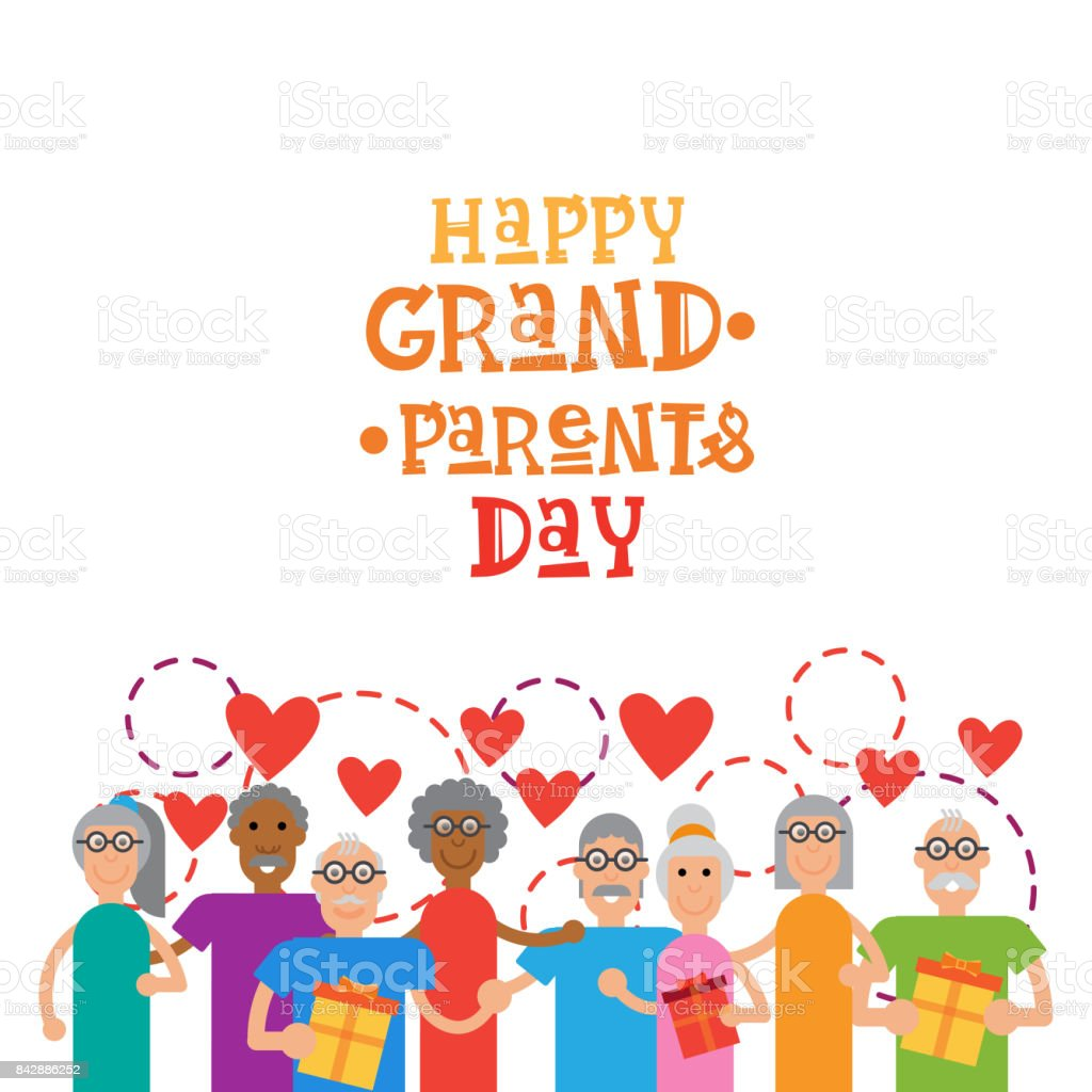 Happy grandparents day greeting card banner stock vector art happy grandparents day greeting card banner royalty free stock vector art m4hsunfo