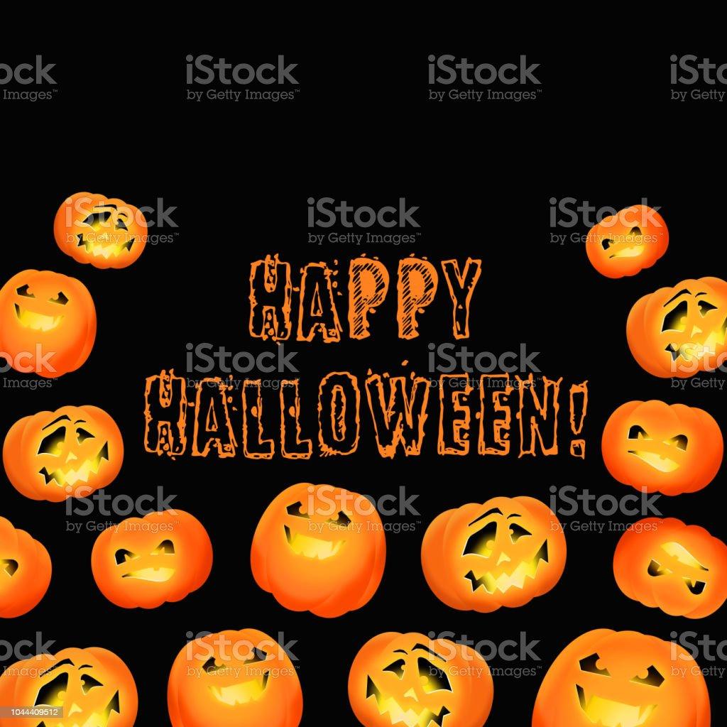 Fröhliches Halloween Halloween Einladung Oder Grußkarte Mit