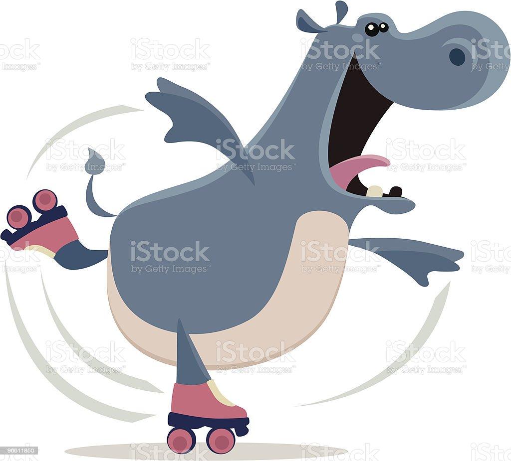 happy hippo - Royaltyfri Balans vektorgrafik