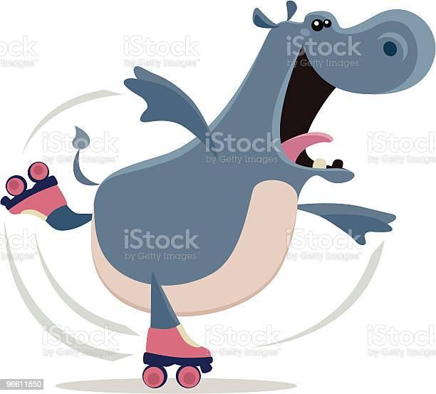 Happy Hippo-vektorgrafik och fler bilder på Balans