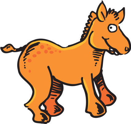 Happy Horse Stock Illustration - Download Image Now