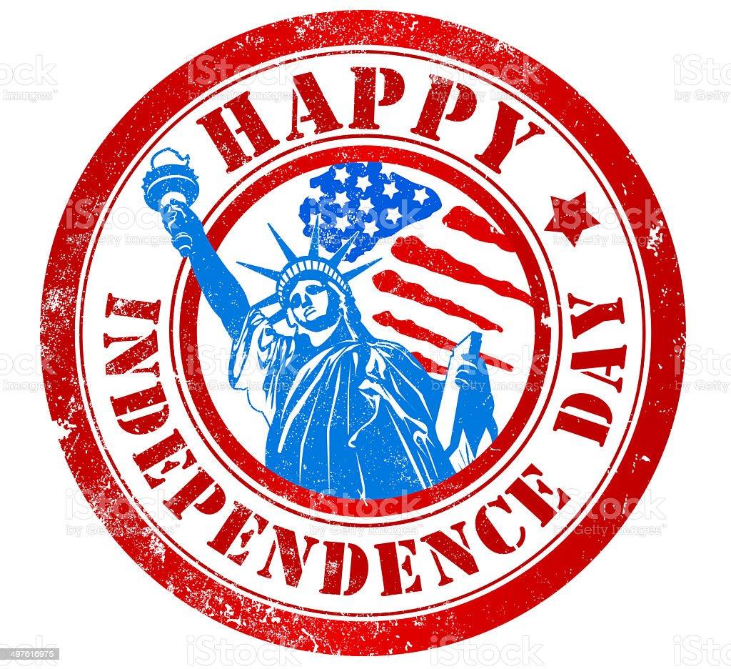 Feliz día de la independencia de la firma - ilustración de arte vectorial