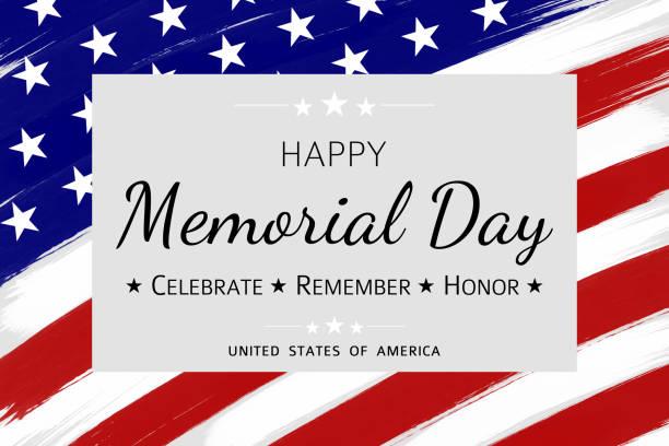 happy memorial day background - memorial day stock illustrations