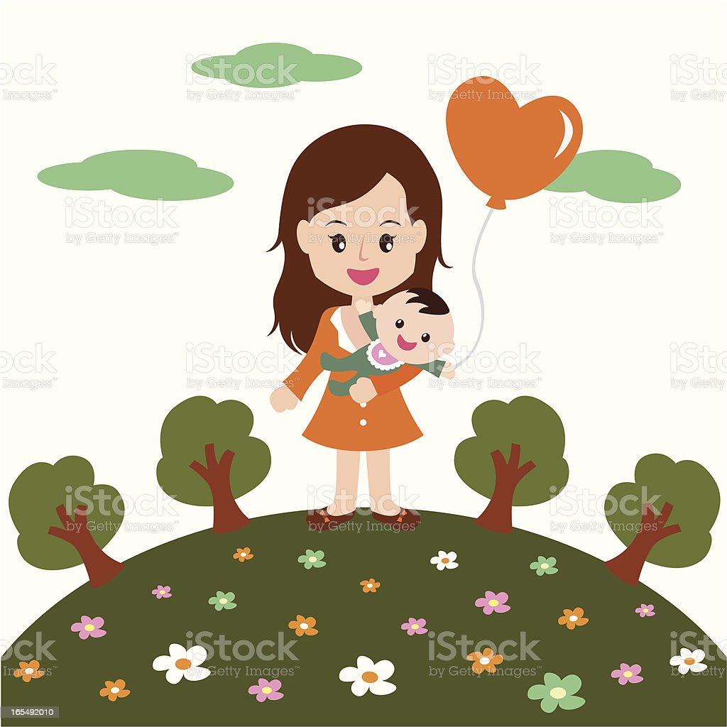 happy mothers day! royalty-free stock vector art