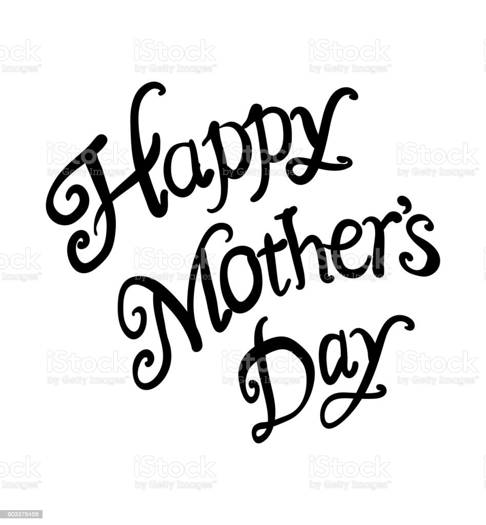 happy mothers day text as mothers day badgetagicon text