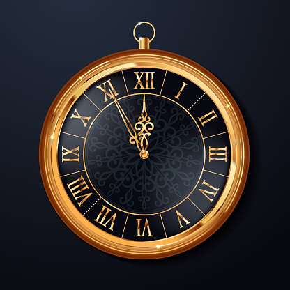 Happy New 2018 Year Background with Clock