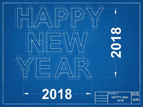 Happy New year 2018 - Blueprint