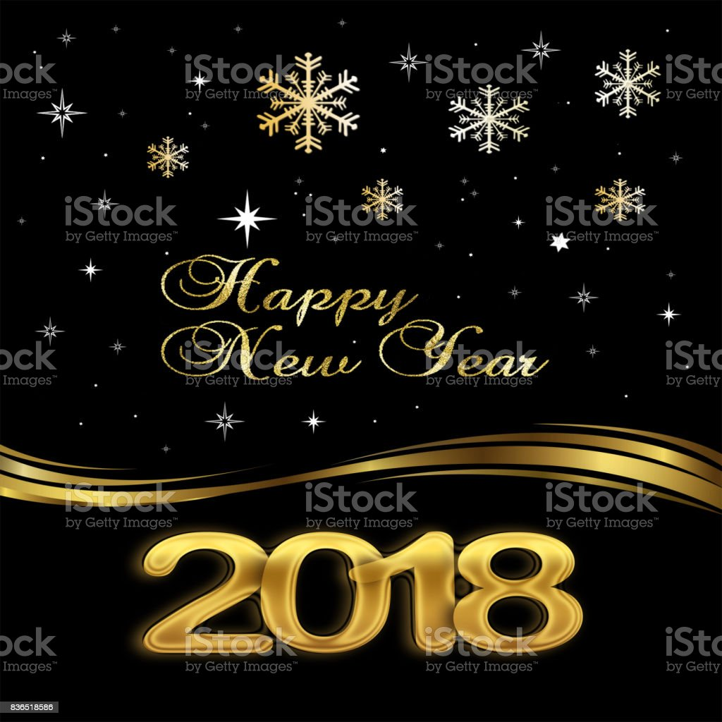 happy new year 2018 elegant black background royalty free happy new year 2018 elegant black