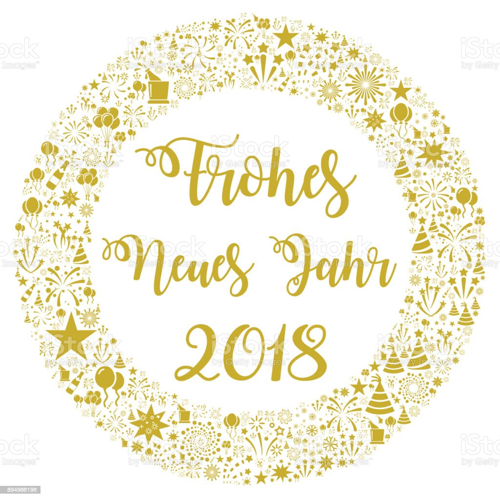 happy new year 2018 in german royalty free happy new year 2018 in german stock
