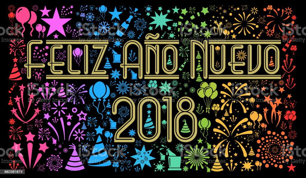 happy new year 2018 in spanish royalty free happy new year 2018 in spanish stock