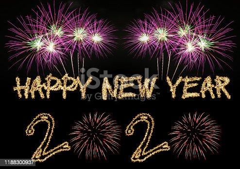 Happy New Year 2020 sparklers firework